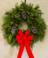 --Popular Balsam Mixed-White Pine-Cedar Wreath 24